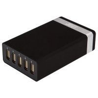 Сетевое зарядное устройство JUST Family Quint USB Wall Charger Black