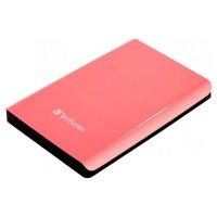 "Внешний портативный винчестер 2.5"" VERBATIM Store 'n' Go 500GB USB3.0/8MB/5400rpm Sunglo Pink (VRB 53170)"