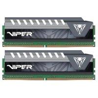 Модуль памяти PATRIOT Viper Elite Gray DDR4 2133MHz 32GB Kit 2x16GB XMP (PVE432G213C4KGY)
