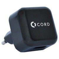 Сетевое зарядное устройство CORD 1хUSB 1A