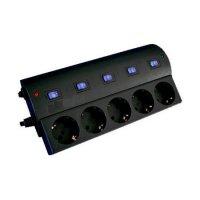 Сетевой фильтр-удлинитель MAXXTRO PRO PWS 05K-6F Black 1.8м