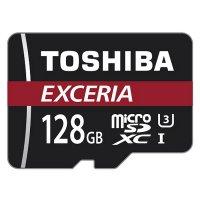 Карта памяти TOSHIBA microSDXC Exceria 128GB UHS-I U3 Class 10 + SD-adapter (THN-M302R1280EA)