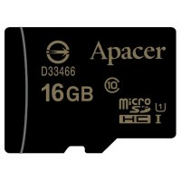 Карта памяти APACER microSDHC 16GB UHS-I Class 10 (AP16GMCSH10U1-RA)