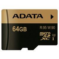 Карта памяти ADATA microSDXC XPG 64GB UHS-I U3 Class 10 (AUSDX64GXUI3-R)