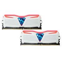Модуль памяти GEIL Super Luce Frost White with Red LED DDR4 2400MHz 16GB Kit 2x8GB (GLWR416GB2400C16DC)