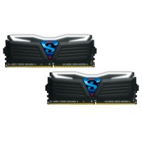 Модуль памяти GEIL Super Luce Stealth Black with White LED DDR4 2400MHz 8GB Kit 2x4GB (GLW48GB2400C16DC)