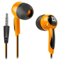 Наушники DEFENDER Basic 604 Black/Orange