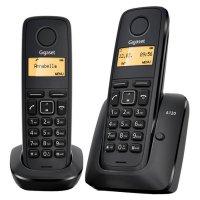 DECT телефон SIEMENS Gigaset A120 Duo Black