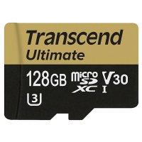 Карта памяти TRANSCEND microSDXC Ultimate 128GB UHS-I U3 Class 10 + SD-adapter (TS128GUSDU3M)