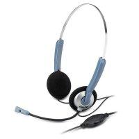 Наушники с микрофоном GENIUS HS-02S Black/Silver