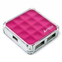 USB хаб A4TECH HUB-56 Pink