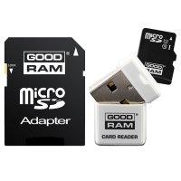 Карта памяти GOODRAM microSDHC 32GB UHS-I Class 10 + USB-cardreader/SD-adapter (USDR432GBC10R9)