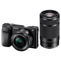 Фотоаппарат SONY Alpha 6000 Black Kit 16-50 mm f/3.5-5.6/PZ + 55-210 mm f/4.5-6.3 OSS