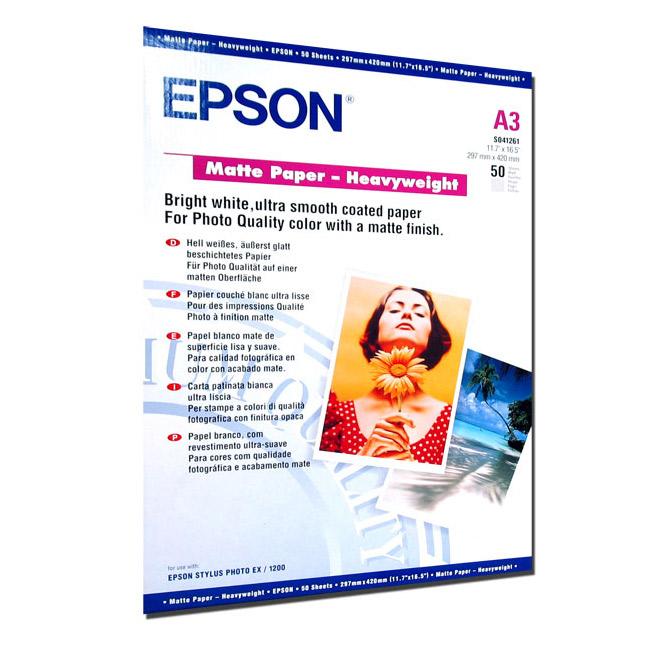 Фотопапір EPSON Matte Heavyweight A3 167г/м² 50л (C13S041261)