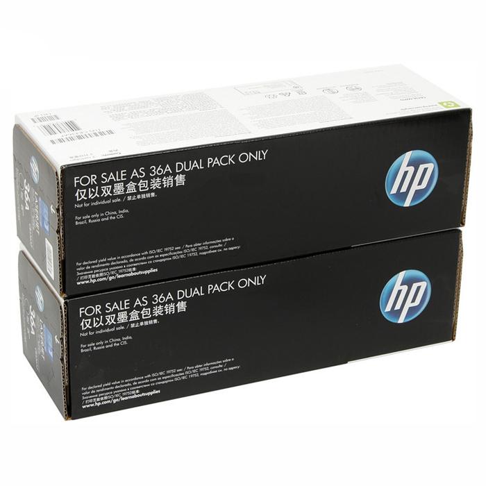 Тонер-картридж HP 36A Dual Pack Black (CB436AF)