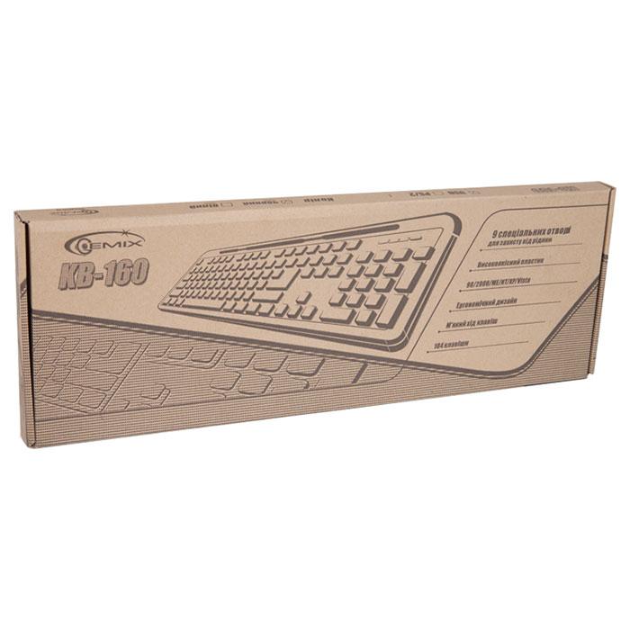 Клавіатура GEMIX KB-160 USB Black