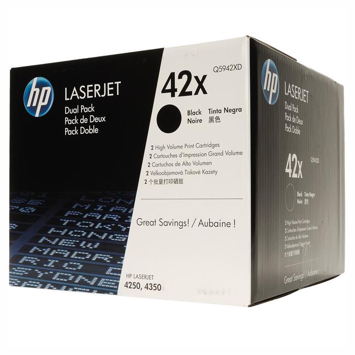 Тонер-картридж HP 42X Dual Pack Black (Q5942XD)