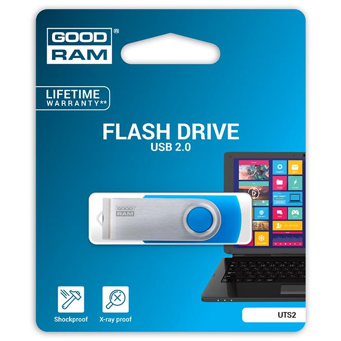 Флэшка GOODRAM UTS2 16GB Blue (UTS2-0160B0R11)