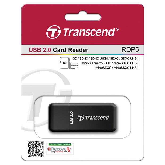 Кардридер TRANSCEND RDP5 Black (TS-RDP5K)