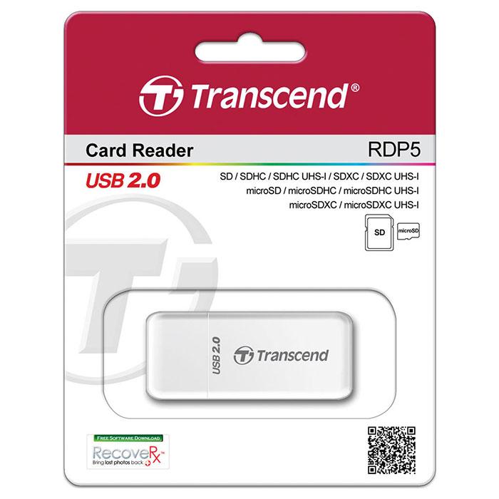 Кардридер TRANSCEND RDP5 White (TS-RDP5W)