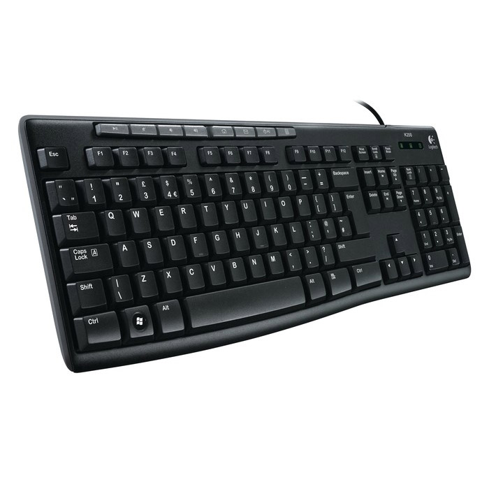 Клавіатура LOGITECH K200 Media (920-002790)