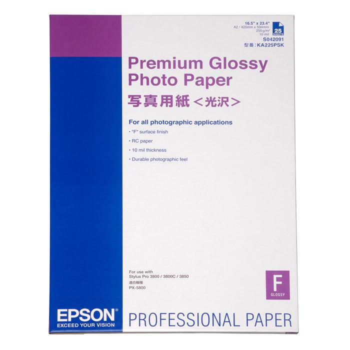 Фотопапір EPSON Premium Glossy A2 255г/м² 25л (C13S042091)