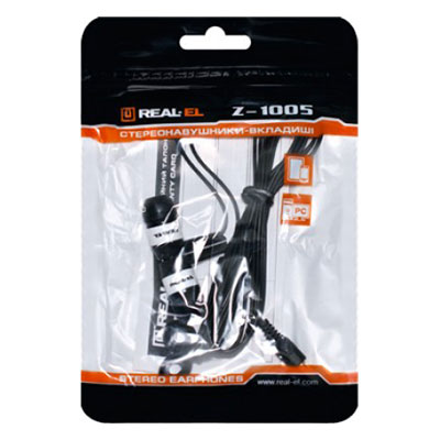 Наушники REAL-EL Z-1005 Black/White