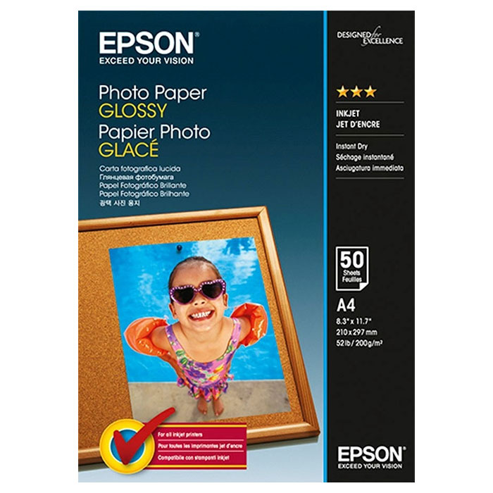 Фотопапір EPSON Photo Paper Glossy A4 200г/м² 50л (C13S042539)