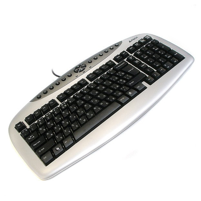 Клавiатура A4TECH KBS-21 USB Black/Silver