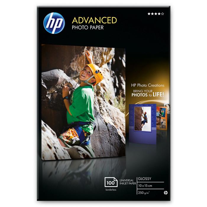Фотопапір HP Advanced Glossy Photo 10x15см 250г/м² 100л (Q8692A)
