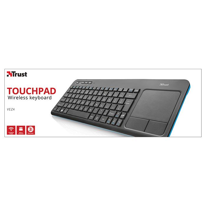 Клавіатура бездротова TRUST Veza Wireless Touchpad (21627)