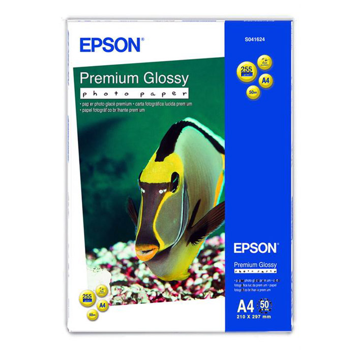 Фотопапір EPSON Premium Glossy A4 255г/м² 50л (C13S041624)