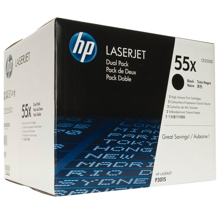 Тонер-картридж HP 55X Dual Pack Black (CE255XD)
