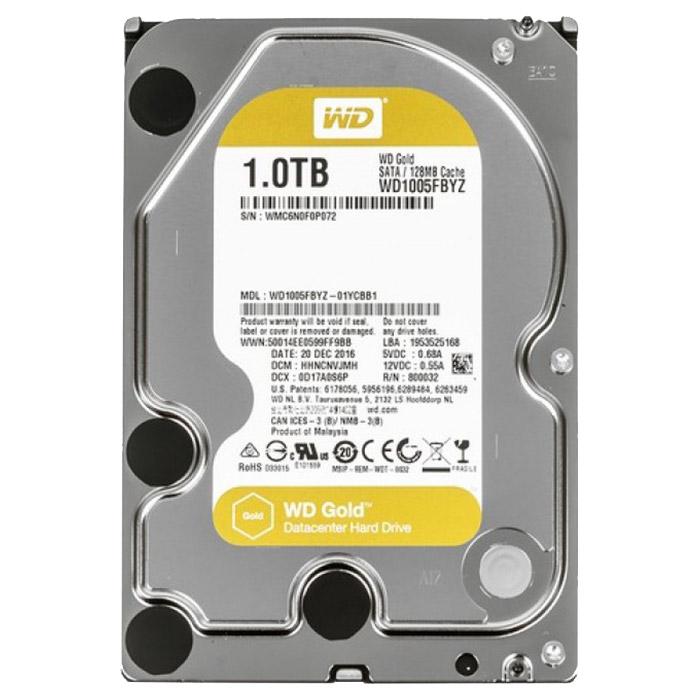 """Жёсткий диск 3.5"""" WD Gold 1TB SATA/128MB (WD1005FBYZ)"""