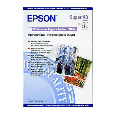 Папір EPSON Watercolor Radiant White A3+ 190г/м² 20л (C13S041352)