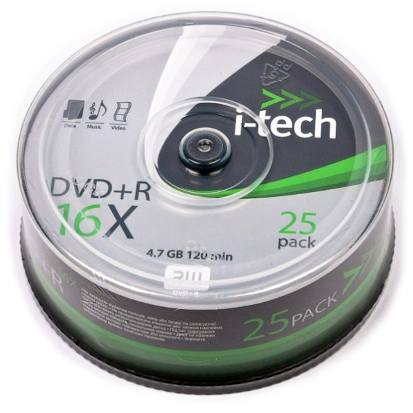 DVD+R 4.7GB 16x 25pcs/spindle