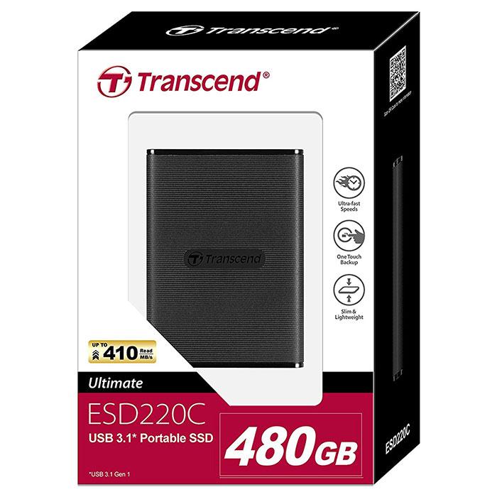 Портативный SSD TRANSCEND ESD220C 480GB (TS480GESD220C)