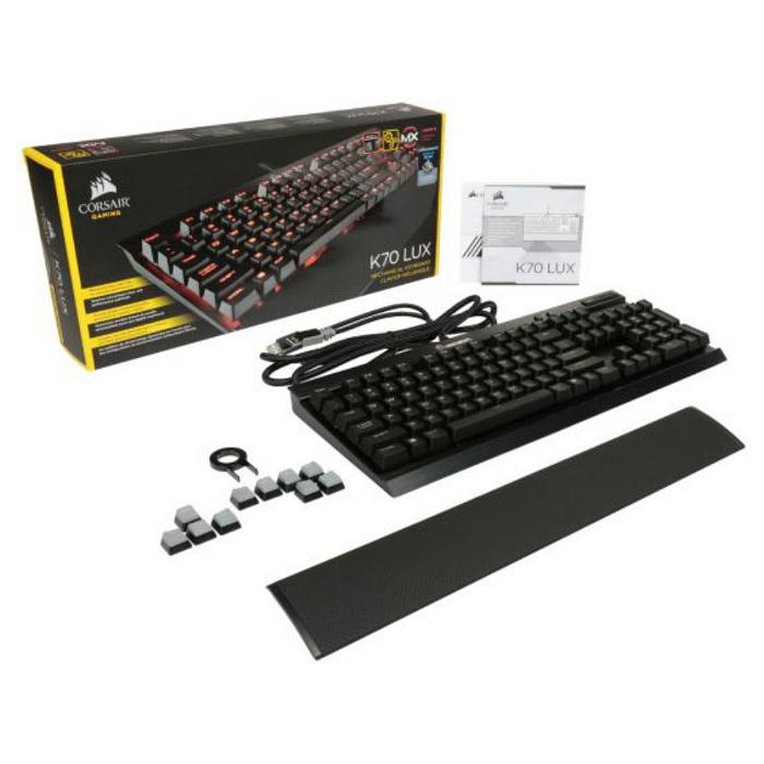 Клавіатура CORSAIR K70 LUX Mechanical Gaming Red LED Cherry MX Brown (CH-9101022-NA)