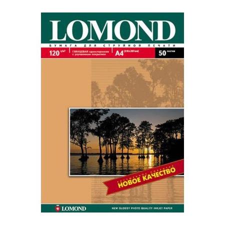 Папір глянцевий LOMOND A4, 120 г/м2, 50 л.