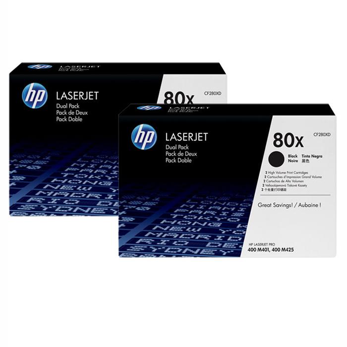 Картридж повышенной емкости HP 80X Dual Pack Black