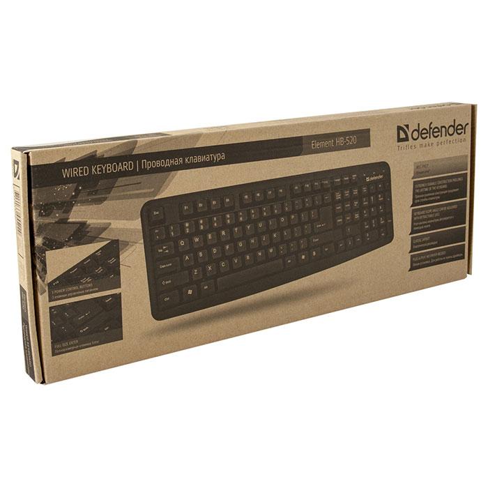 Клавіатура DEFENDER Element HB-520 Gray (45523)