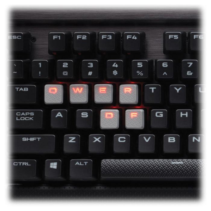 Клавіатура CORSAIR K70 LUX Mechanical Gaming Red LED Cherry (MX Blue Switch) (CH-9101021-NA)