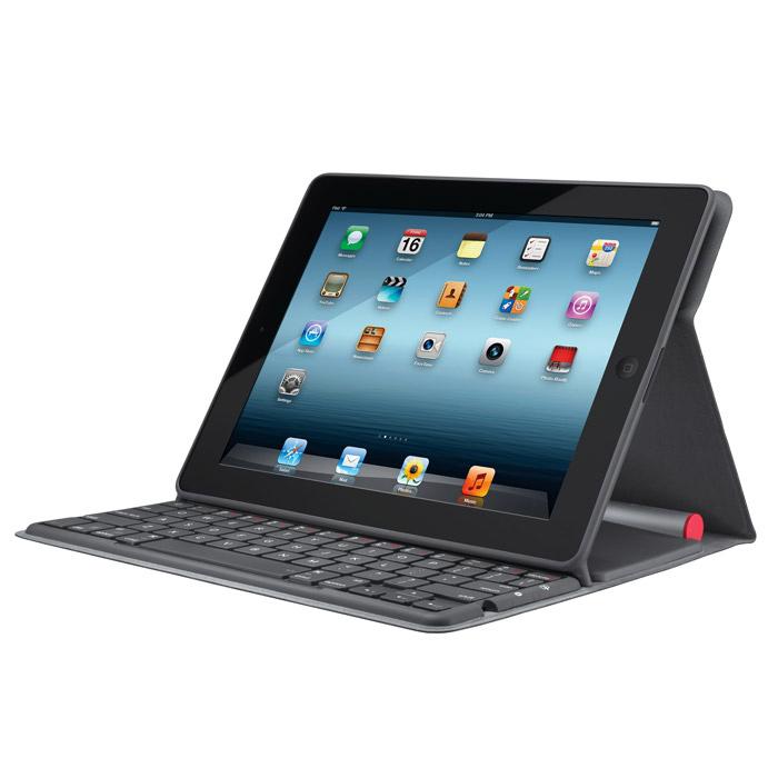 Бездротова клавiатура LOGITECH Solar Folio Bluetooth Black/Silver