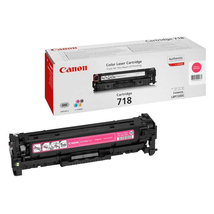 Тонер-картридж CANON 718 Magenta (2660B002)