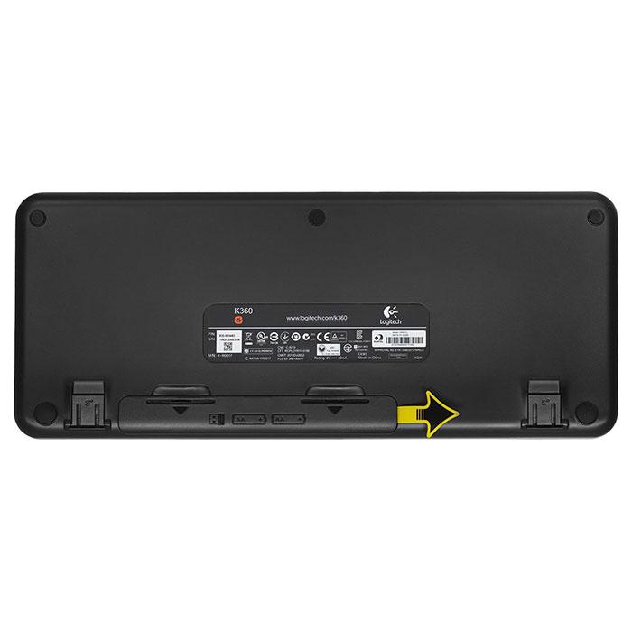Клавіатура бездротова LOGITECH K360 Wireless (920-003095)