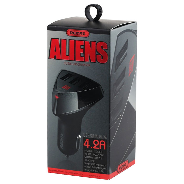 Автомобильное зарядное устройство REMAX Aliens RCC-304 Black