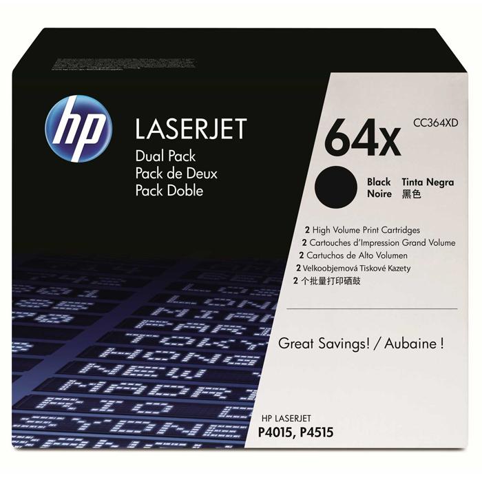 Тонер-картридж HP 64X Dual Pack Black (CC364XD)