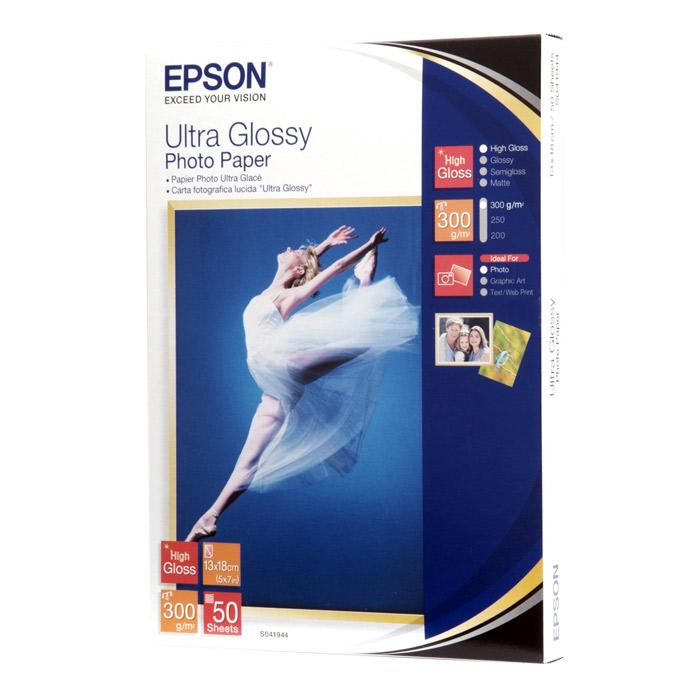 Фотопапір EPSON Ultra Glossy 13x18см 300г/м² 50л (C13S041944)