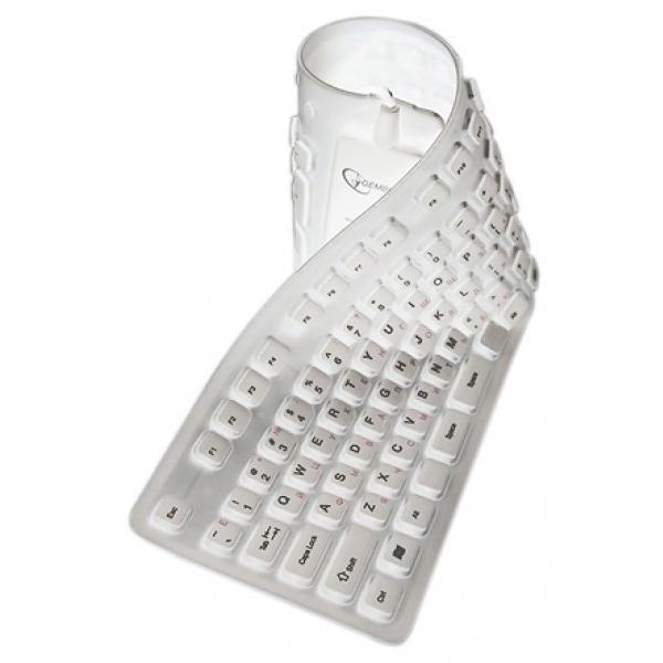 Клавіатура GEMBIRD KB-109F PS/2+USB White