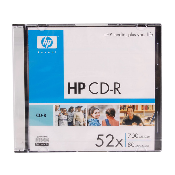 CD-R HP 700MB 52x 10pcs/slim (69523/CRE00010S-3)